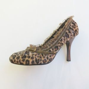 "Leopard Print Heels 3.5"" - Vintage Style Pin Up 6"